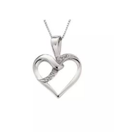 Revere White Gold Diamond Necklace - Argos